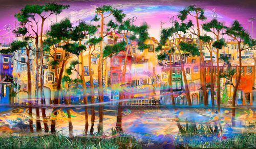 River Lights Jigsaw Puzzle