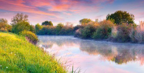 River Sunrise Jigsaw Puzzle