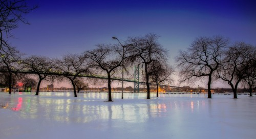 Riverside Icescape Jigsaw Puzzle