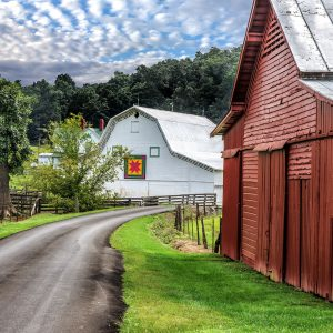 Road and Barns Jigsaw Puzzle