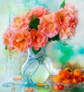 Roses and Apricots Jigsaw Puzzle