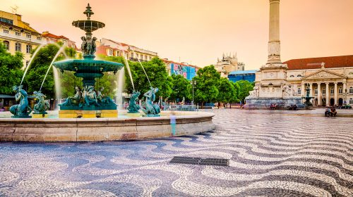 Rossio Square Fountain Jigsaw Puzzle