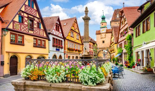 Rothenburg Flowers Jigsaw Puzzle