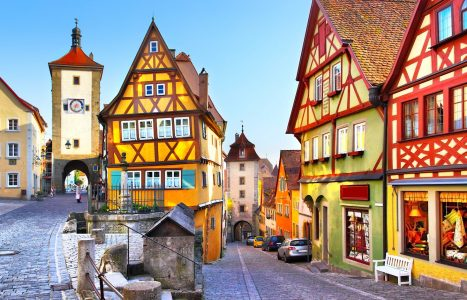 Rothenburg Streets Jigsaw Puzzle