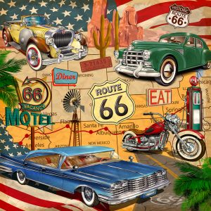 Route 66 Poster Jigsaw Puzzle