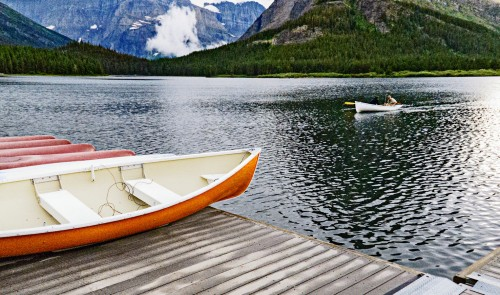 Swiftcurrent Lake Jigsaw Puzzle