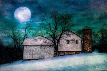 Rural Moon Jigsaw Puzzle