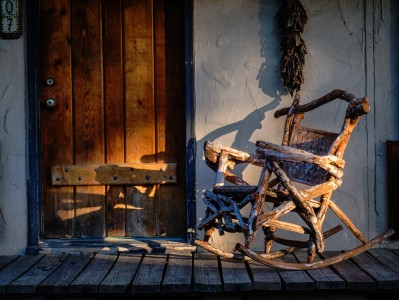 Rustic Door and Rocker Jigsaw Puzzle