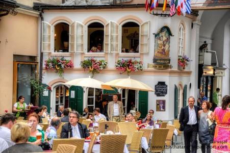 Salzburg Cafe Jigsaw Puzzle