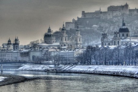 Salzburg in Winter Jigsaw Puzzle