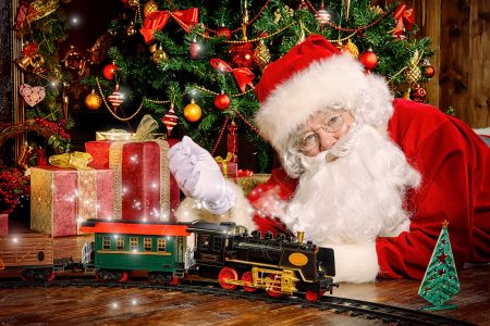 Santa and Train Jigsaw Puzzle
