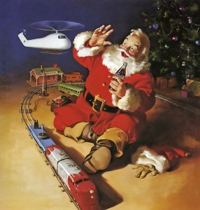 Santa Claus Playing Jigsaw Puzzle