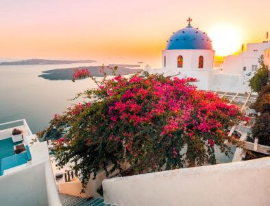 Santorini at Sunset Jigsaw Puzzle