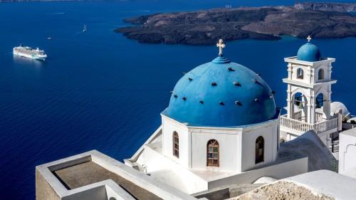 Santorini Overlook Jigsaw Puzzle