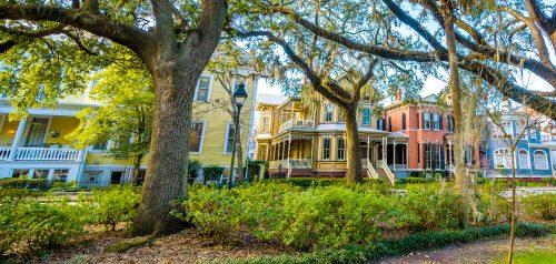 Savannah Houses Jigsaw Puzzle