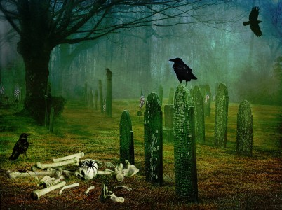 Scary Graveyard Jigsaw Puzzle