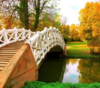 Schwetzingen Park Bridge Jigsaw Puzzle