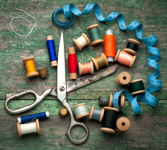 Scissors and Thread Jigsaw Puzzle