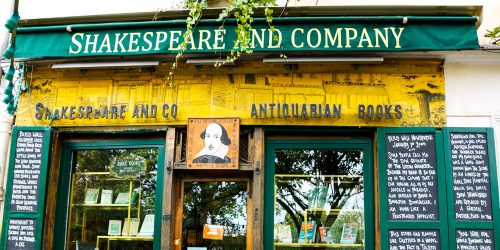 Shakespeare Bookstore Jigsaw Puzzle