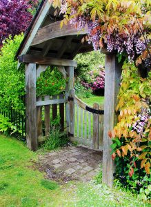 Sheltered Gate Jigsaw Puzzle