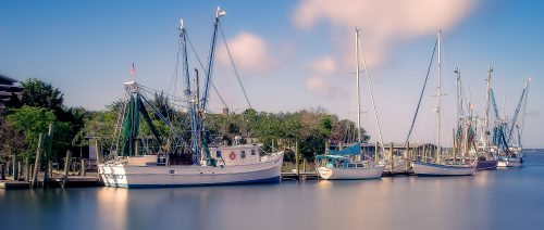 Shem Creek Boats Jigsaw Puzzle