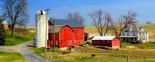 Silo and Barns Farm Jigsaw Puzzle