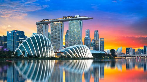 Singapore Skyline Jigsaw Puzzle