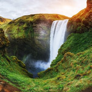 Skogafoss Waterfall Jigsaw Puzzle