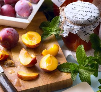 Sliced Plums Jigsaw Puzzle