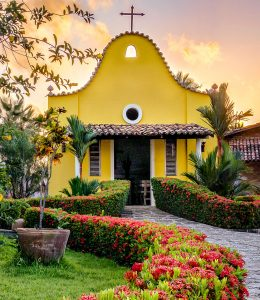 Small Yellow Church Jigsaw Puzzle