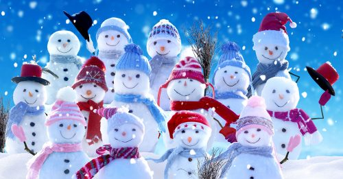 Smiling Snow People Jigsaw Puzzle