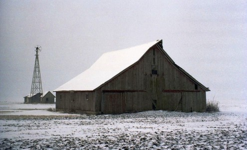 Snow Covered Barn Jigsaw Puzzle