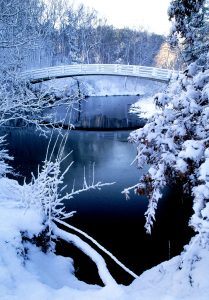 Snow Covered Bridge Jigsaw Puzzle