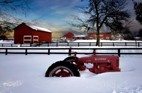 Snowbound Tractor Jigsaw Puzzle