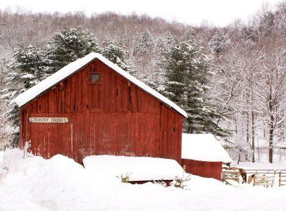 Snowed in Barn Jigsaw Puzzle