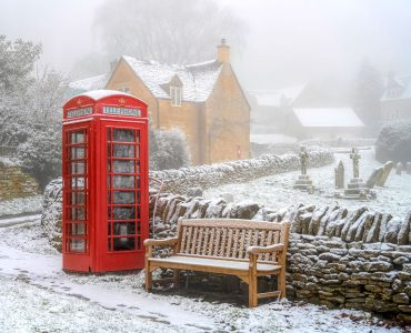 Snowshill Bench Jigsaw Puzzle