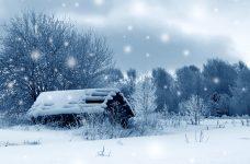 Snowy Barn