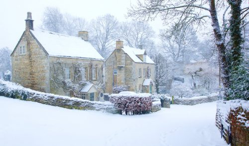 Snowy Cotswolds Jigsaw Puzzle