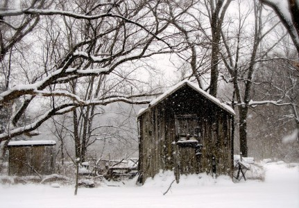 Snowy Shed Jigsaw Puzzle
