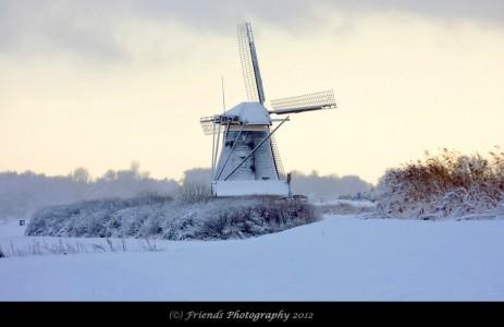 Snowy Windmill Jigsaw Puzzle