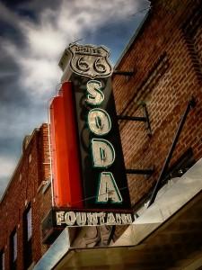 Soda Fountain Sign Jigsaw Puzzle