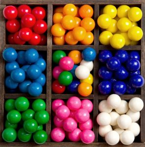 Sorted Gum Balls Jigsaw Puzzle