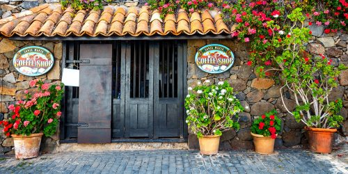 Spanish Coffee Shop Jigsaw Puzzle