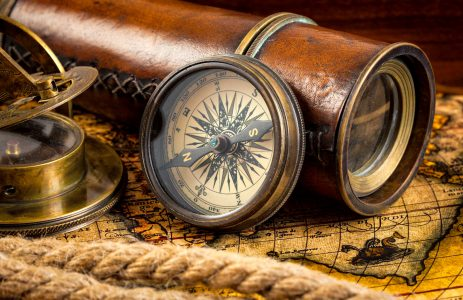 Spyglass and Compass Jigsaw Puzzle