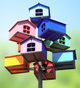 Stacked Birdhouses Jigsaw Puzzle