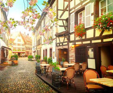 Strasbourg Cafe Jigsaw Puzzle