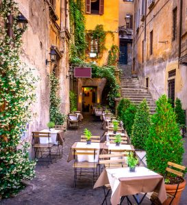 Street Cafe Tables Jigsaw Puzzle
