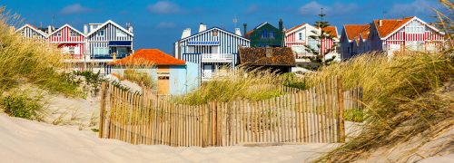 Striped Beach Houses Jigsaw Puzzle