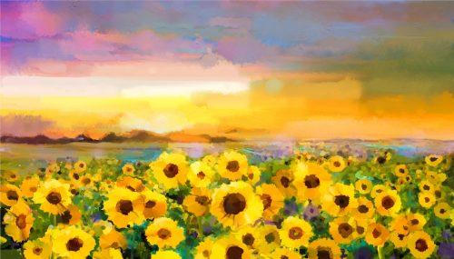 Sunflower Sunset Jigsaw Puzzle