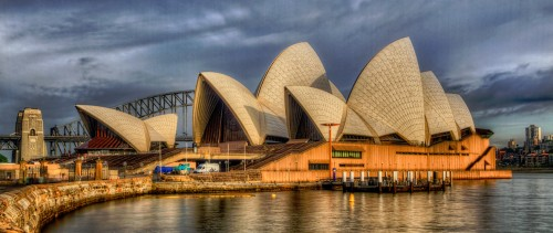 Sunlight on the Opera House Jigsaw Puzzle